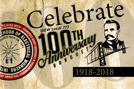 IBEW 773 100th Anniversary logo