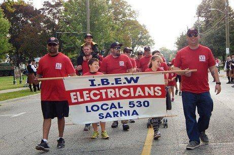 IBEW Local 530 Sarnia Labour Day Parade