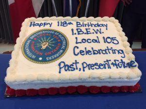 IBEW Local 105 118th Birthday Cake