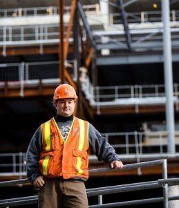 Steve Krsnik IBEW electrical apprentice